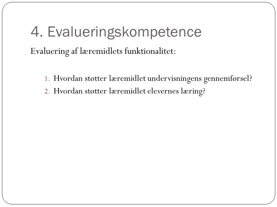 4. Evalueringskompetence