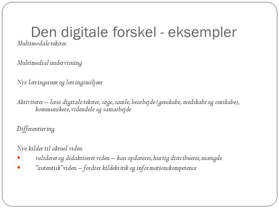 Den digitale forskel - eksempler