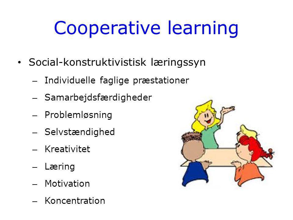 Cooperative learning Social-konstruktivistisk læringssyn