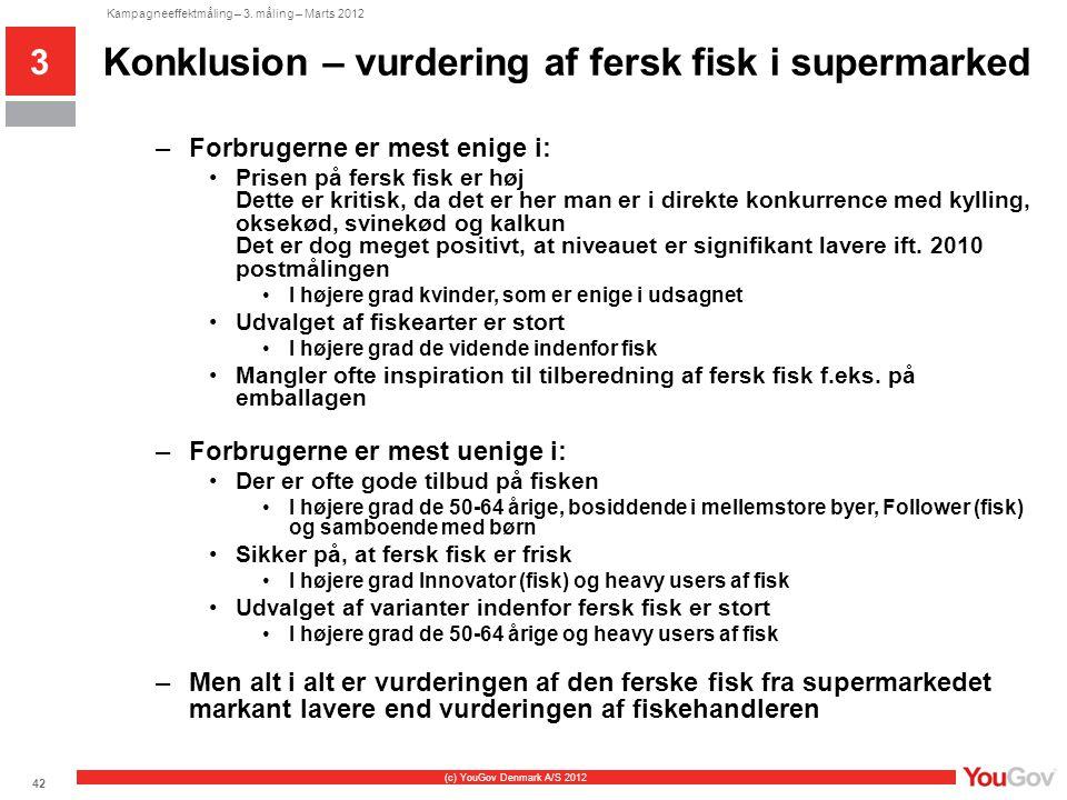 Konklusion – vurdering af fersk fisk i supermarked