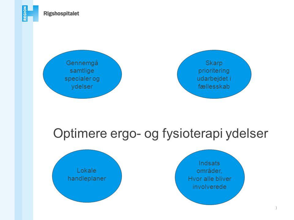 Optimere ergo- og fysioterapi ydelser