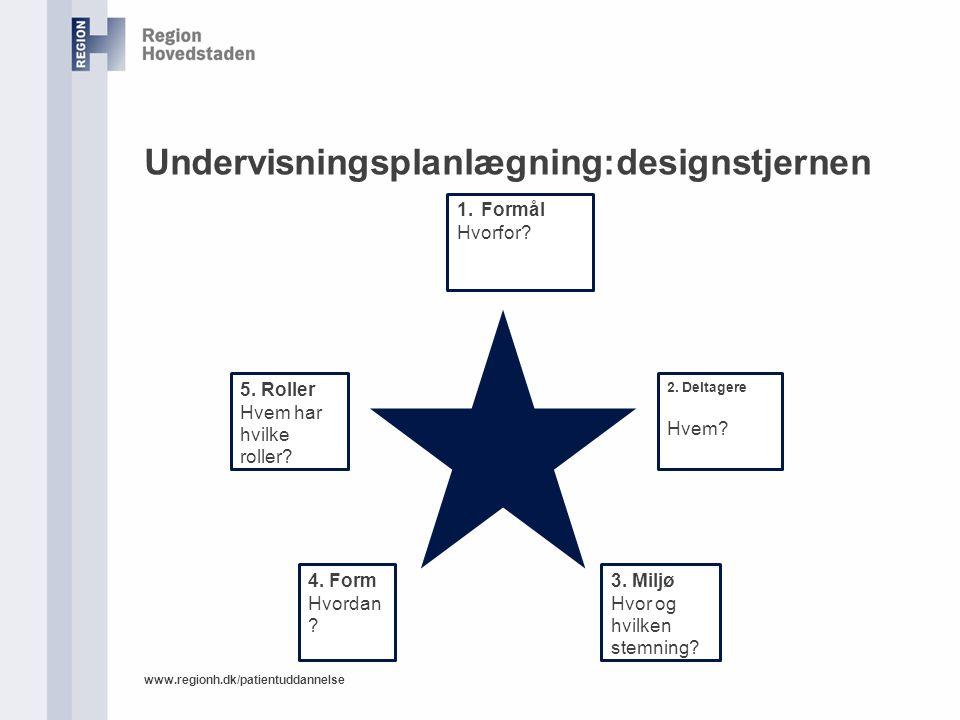 Undervisningsplanlægning:designstjernen