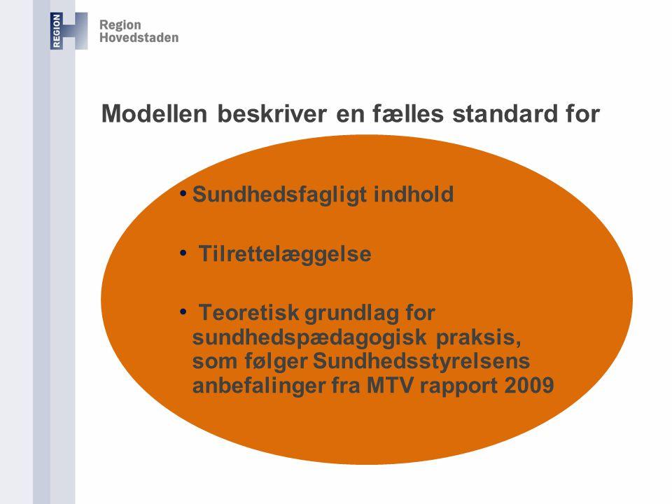 Modellen beskriver en fælles standard for