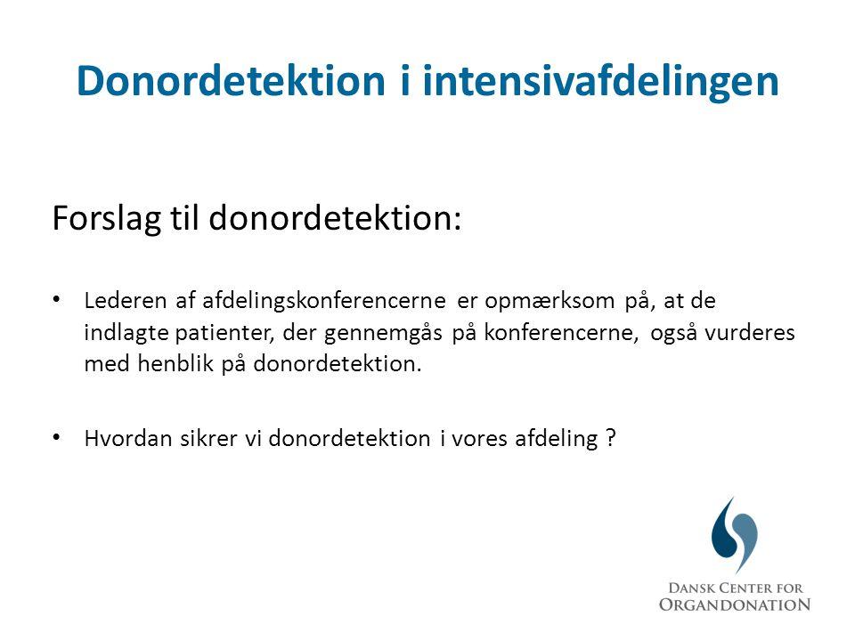 Donordetektion i intensivafdelingen