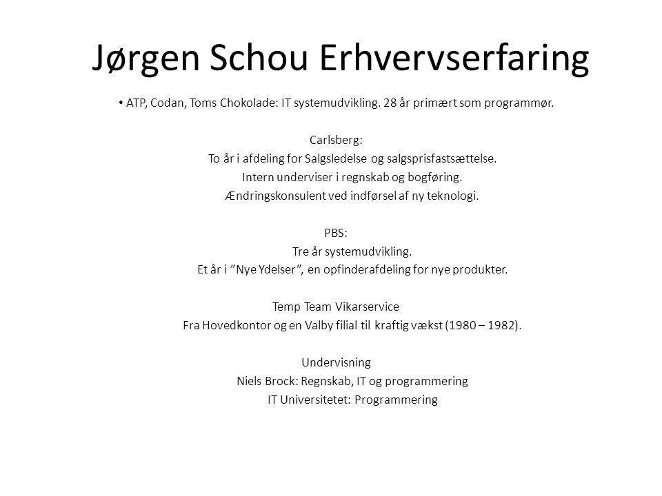 Jørgen Schou Erhvervserfaring