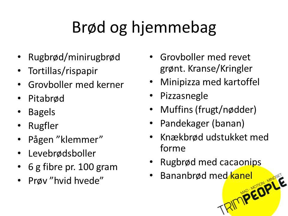 Brød og hjemmebag Rugbrød/minirugbrød Tortillas/rispapir