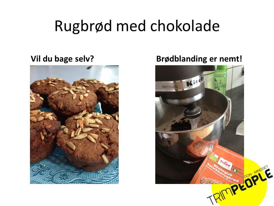 Rugbrød med chokolade Vil du bage selv Brødblanding er nemt!