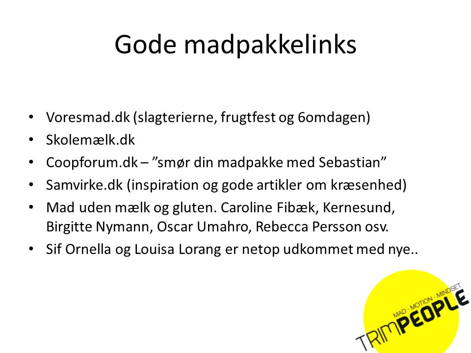 Gode madpakkelinks Voresmad.dk (slagterierne, frugtfest og 6omdagen)