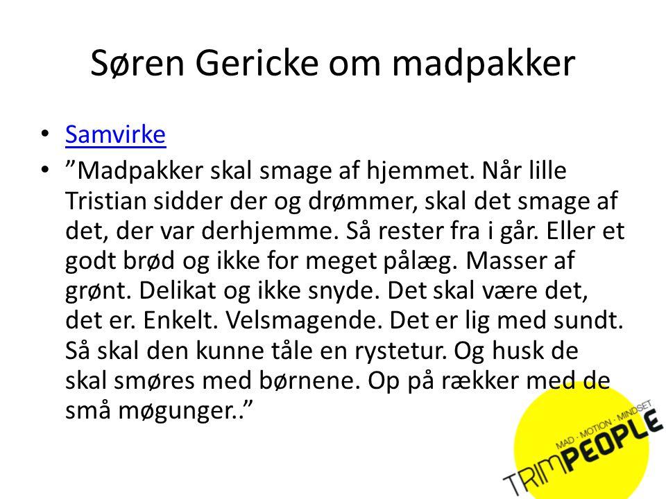 Søren Gericke om madpakker
