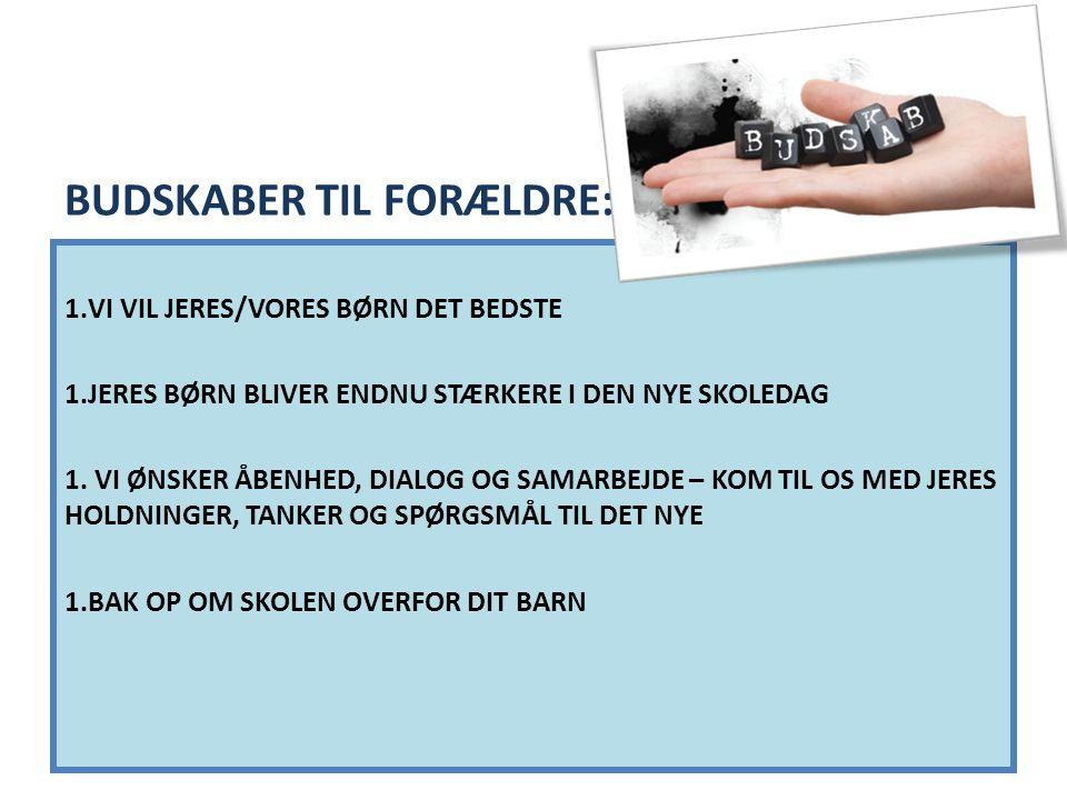 BUDSKABER TIL FORÆLDRE:
