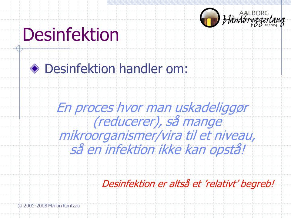 Desinfektion Desinfektion handler om: