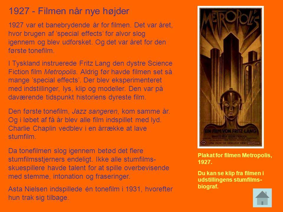 1927 - Filmen når nye højder