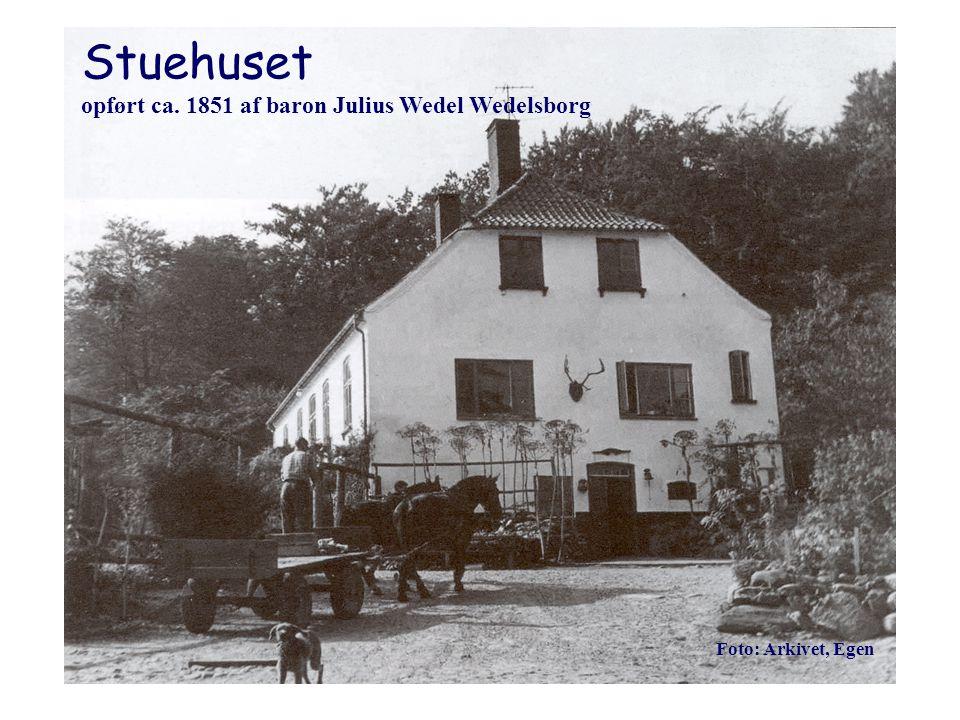 Stuehuset opført ca. 1851 af baron Julius Wedel Wedelsborg
