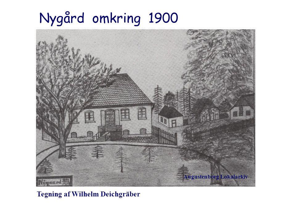 Nygård omkring 1900 Tegning af Wilhelm Deichgräber