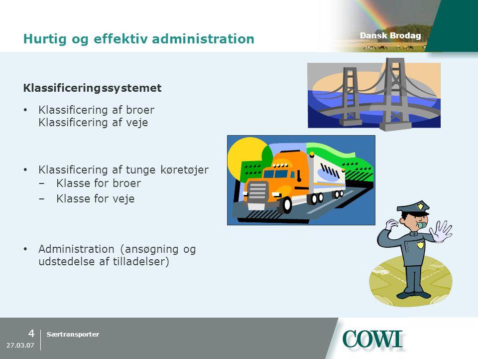 Hurtig og effektiv administration
