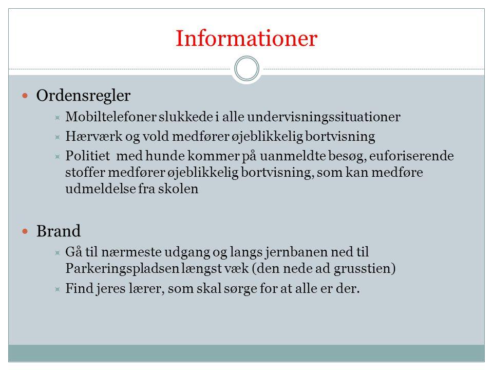 Informationer Ordensregler Brand