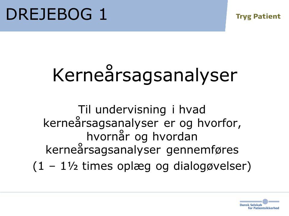 (1 – 1½ times oplæg og dialogøvelser)