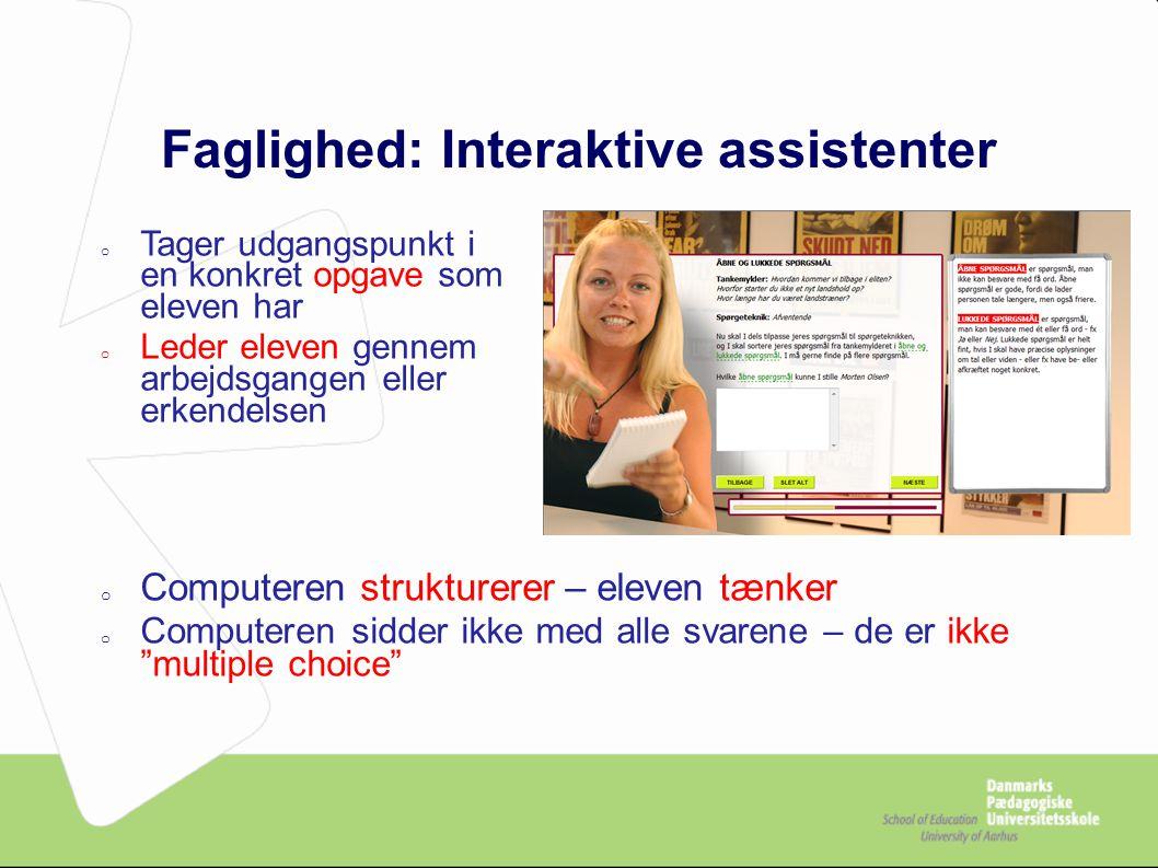 Faglighed: Interaktive assistenter