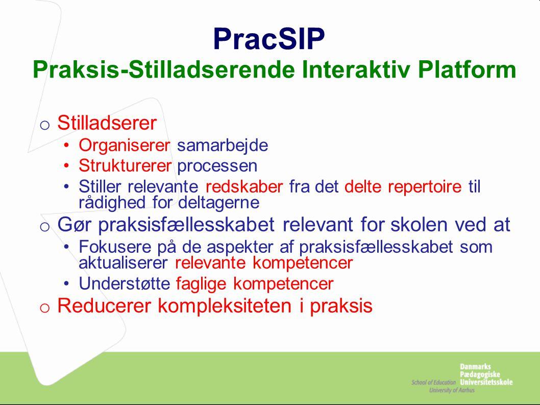 PracSIP Praksis-Stilladserende Interaktiv Platform