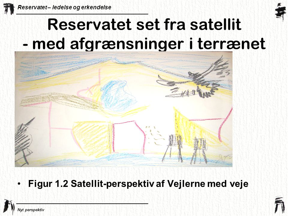 Reservatet set fra satellit - med afgrænsninger i terrænet