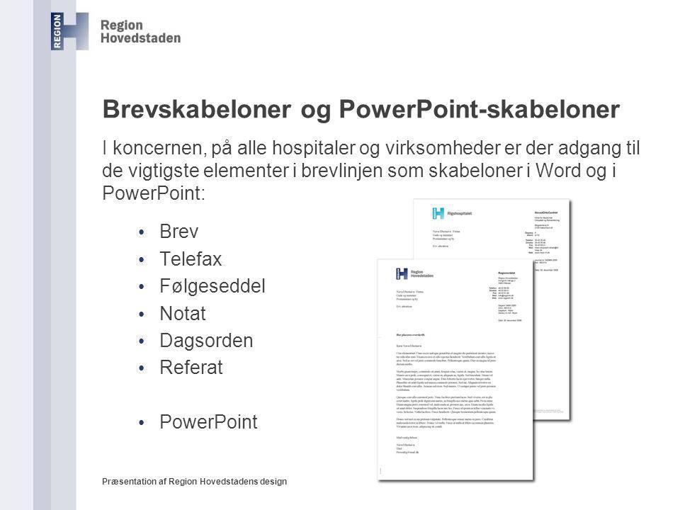 Brevskabeloner og PowerPoint-skabeloner