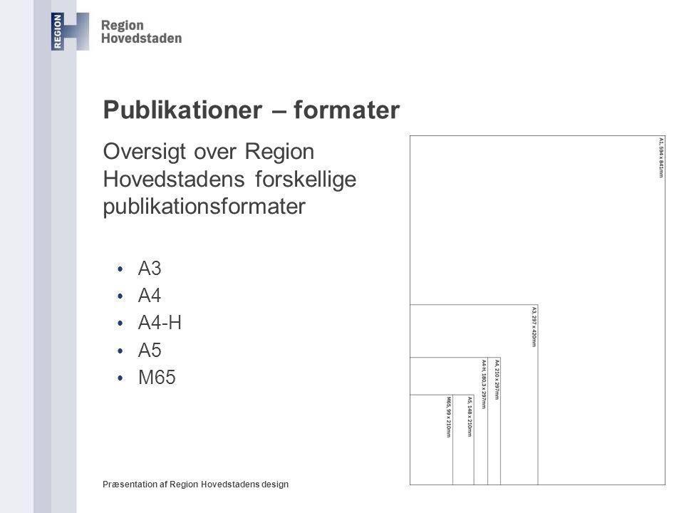 Publikationer – formater