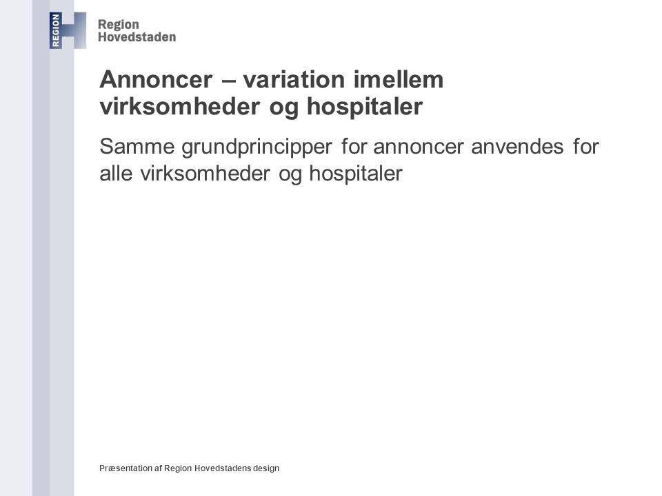 Annoncer – variation imellem virksomheder og hospitaler