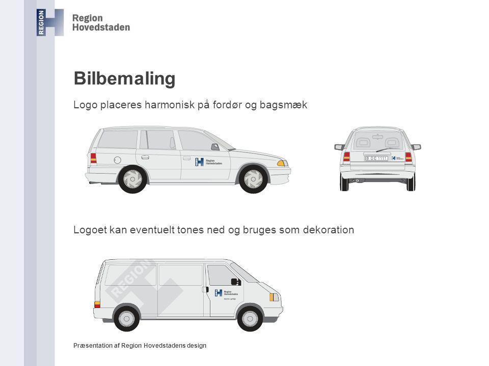 Bilbemaling Logo placeres harmonisk på fordør og bagsmæk