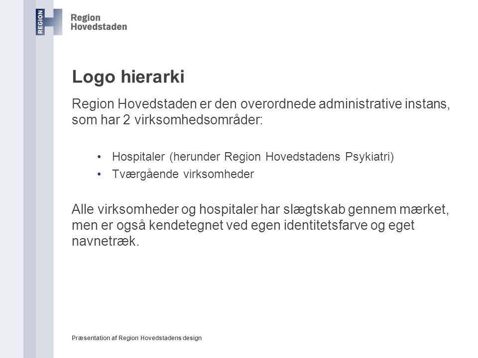 Logo hierarki Region Hovedstaden er den overordnede administrative instans, som har 2 virksomhedsområder: