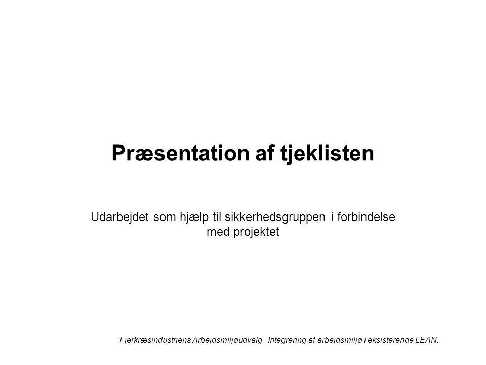 Præsentation af tjeklisten