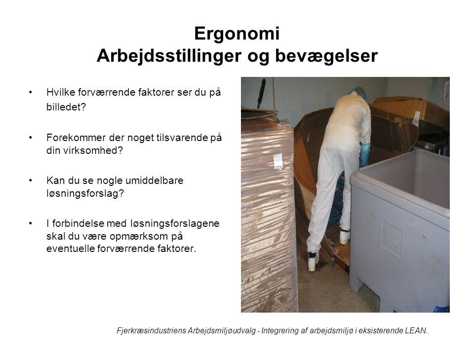 Ergonomi Arbejdsstillinger og bevægelser
