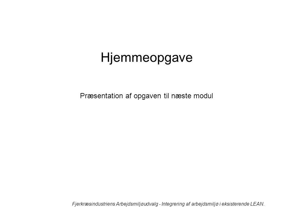 Præsentation af opgaven til næste modul