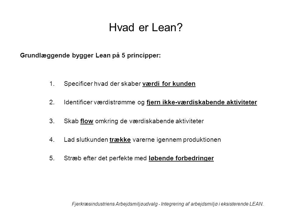 Hvad er Lean Grundlæggende bygger Lean på 5 principper: