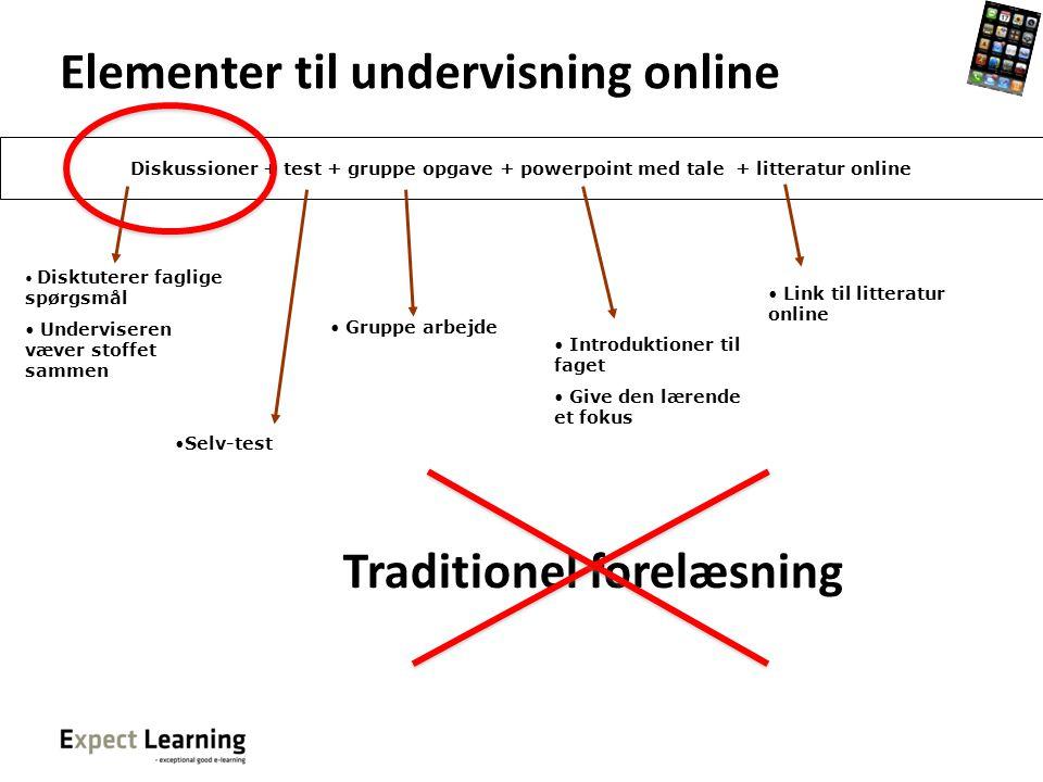 Elementer til undervisning online