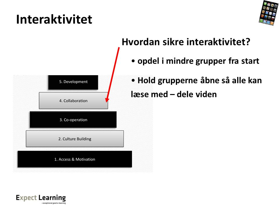 Interaktivitet Hvordan sikre interaktivitet
