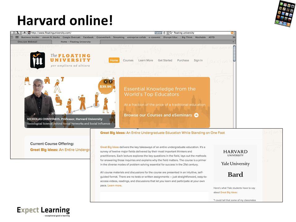 Harvard online!