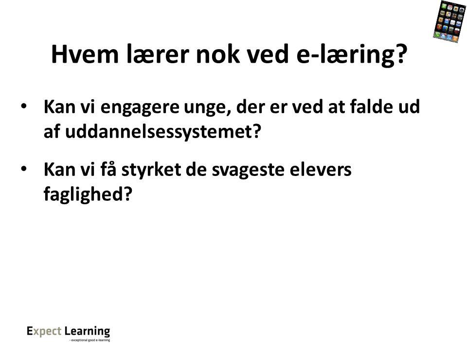 Hvem lærer nok ved e-læring