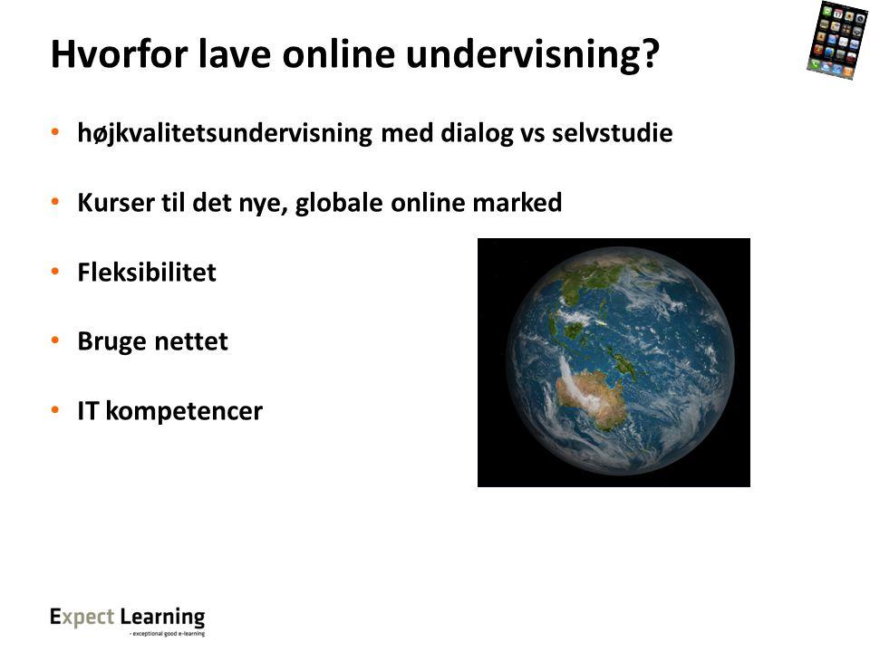 Hvorfor lave online undervisning
