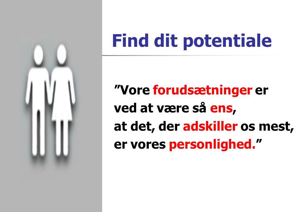 Find dit potentiale Vore forudsætninger er ved at være så ens,