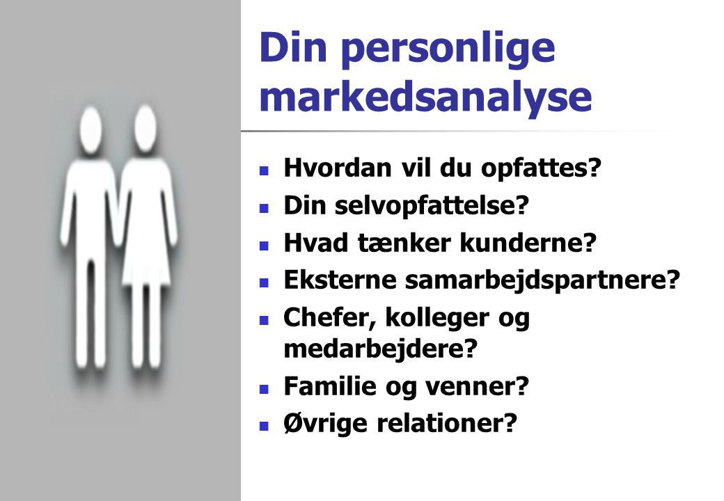 Din personlige markedsanalyse