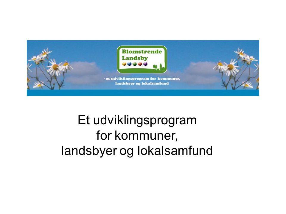 Et udviklingsprogram for kommuner, landsbyer og lokalsamfund
