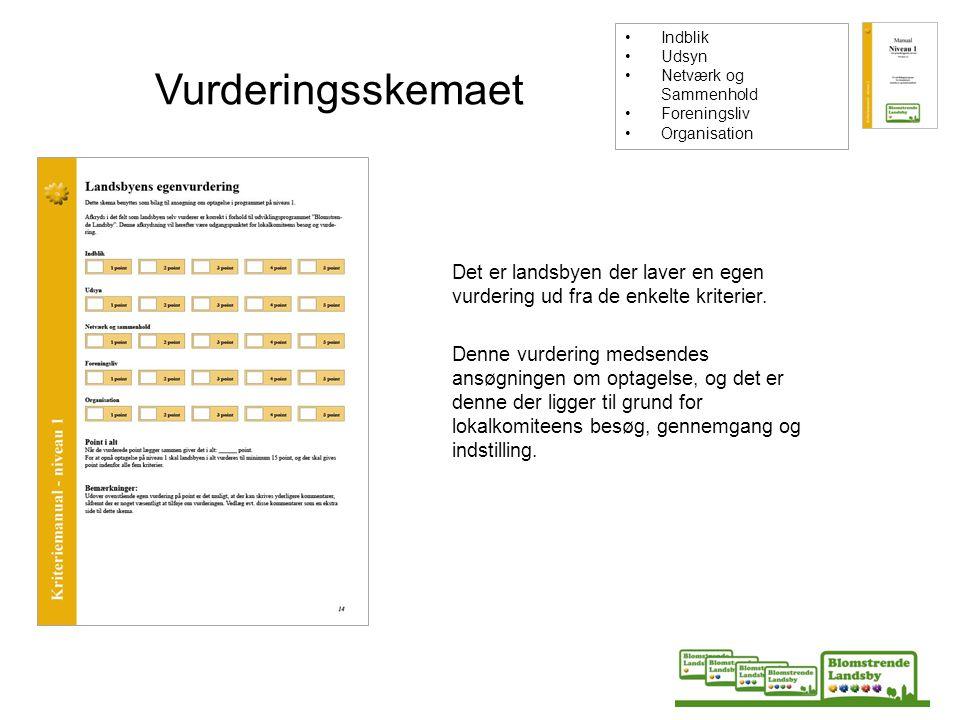 Indblik Udsyn. Netværk og Sammenhold. Foreningsliv. Organisation. Vurderingsskemaet.