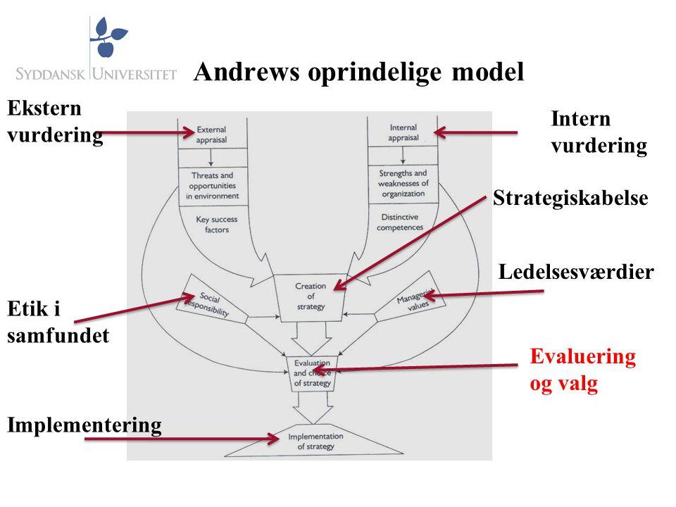 Andrews oprindelige model