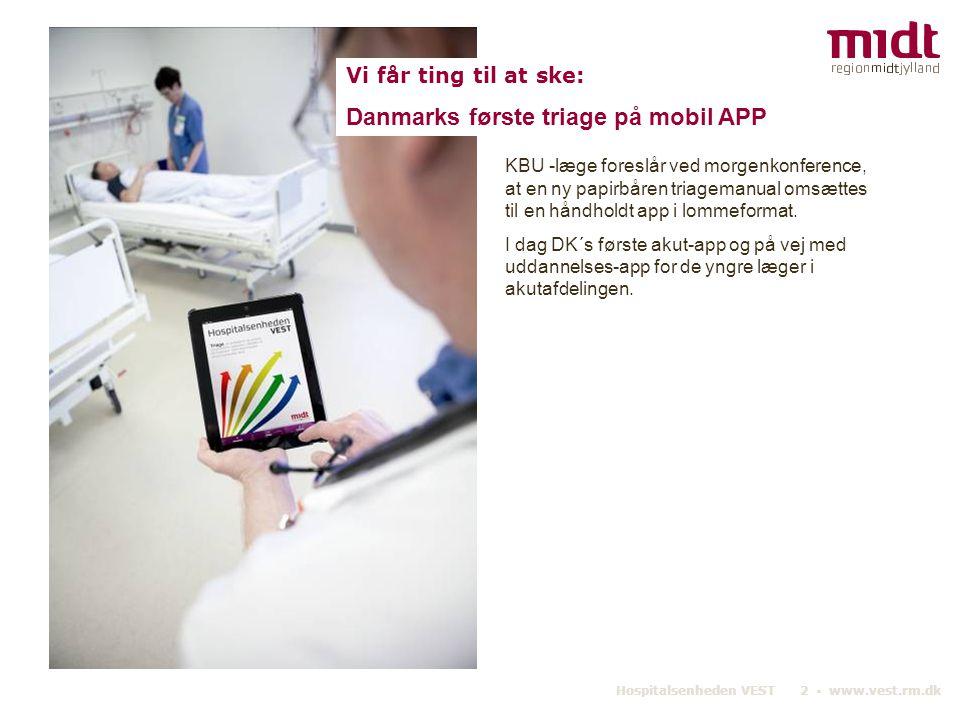 Danmarks første triage på mobil APP