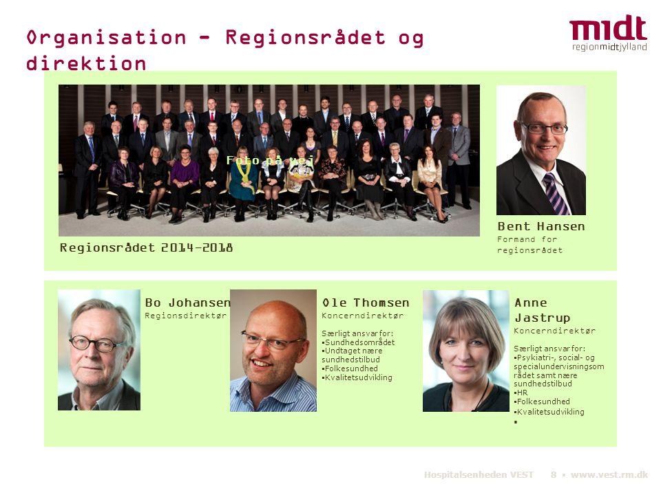 Organisation - Regionsrådet og direktion