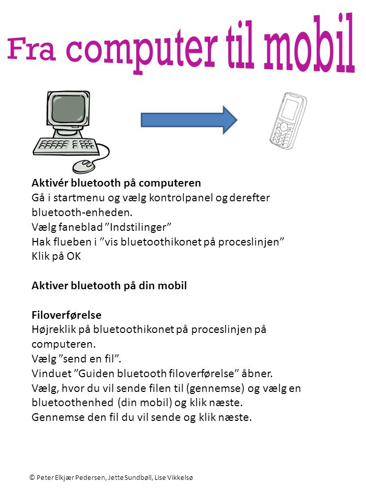 Aktivér bluetooth på computeren
