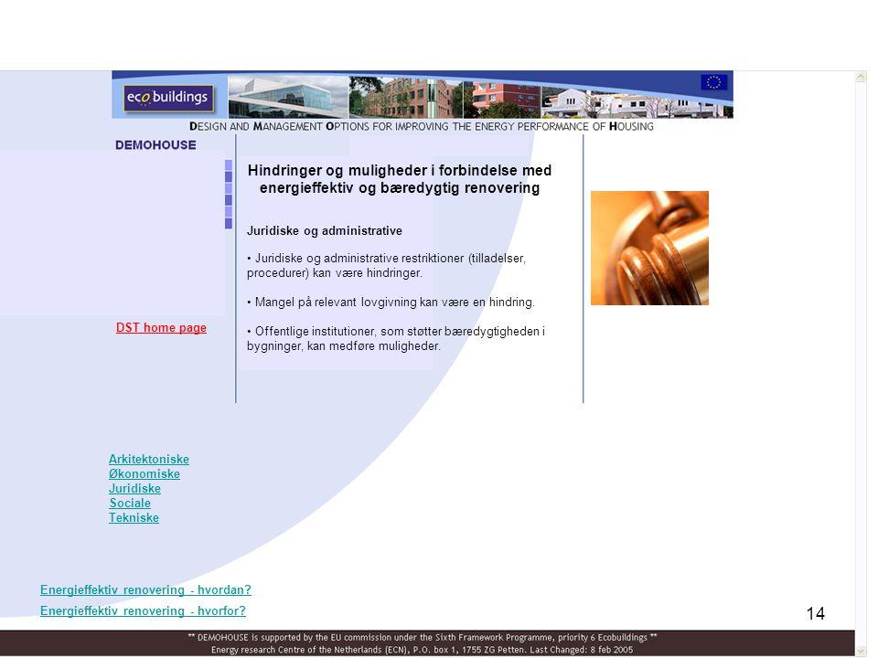 Hindringer og muligheder i forbindelse med energieffektiv og bæredygtig renovering