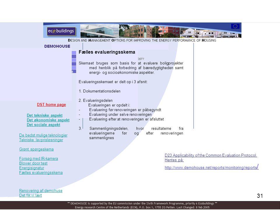 Fælles evalueringsskema