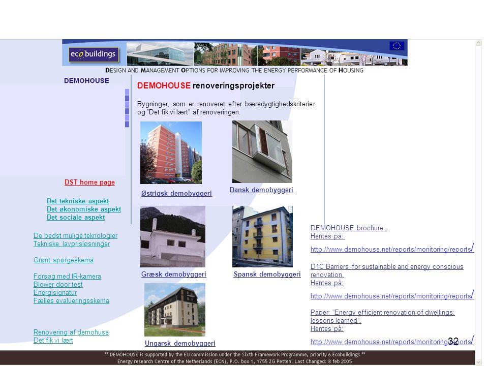 DEMOHOUSE renoveringsprojekter