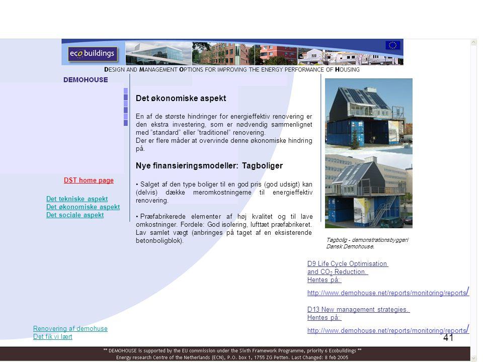 Nye finansieringsmodeller: Tagboliger